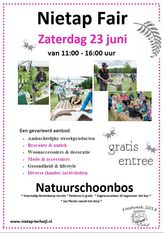 Flyer Nietap Fair 2018