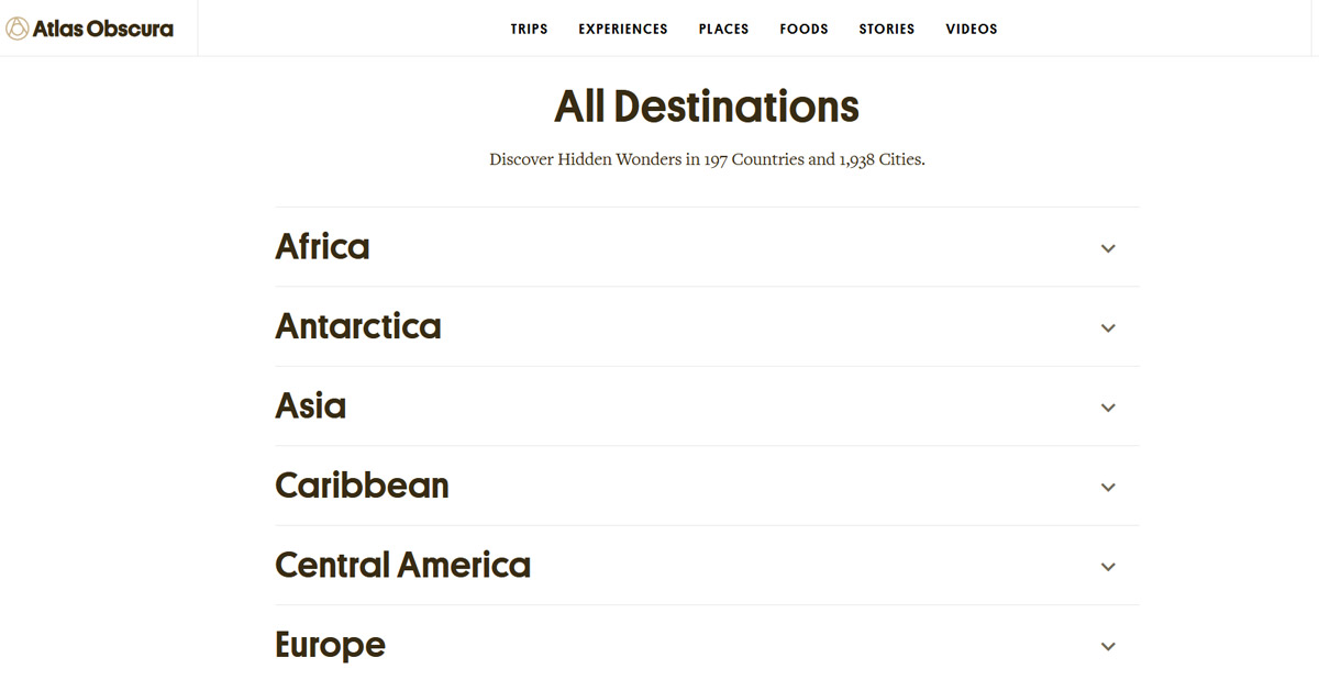 Website Atlas Obscure
