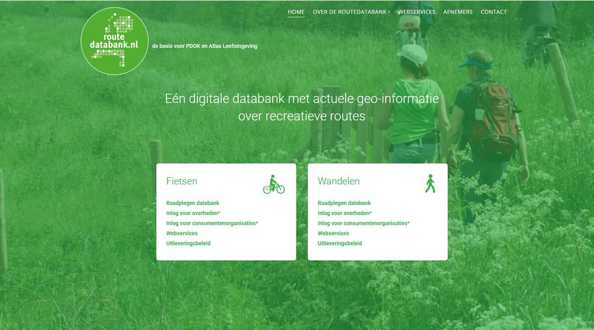 Website fiets- en wandelpaden