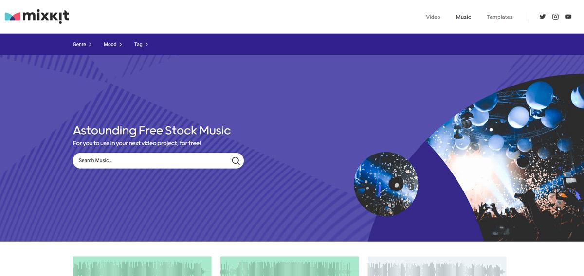 Website gratis Stock Muziek