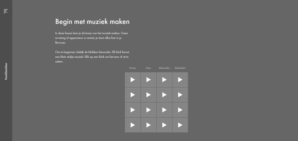 website muzie maken